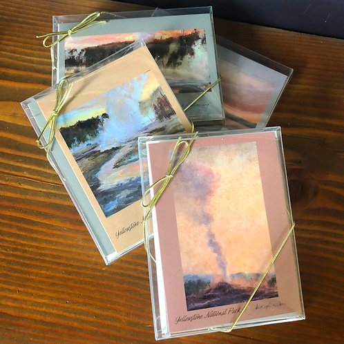 Yellowstone Thermal Landscapes - boxed set of 4 fine art cards