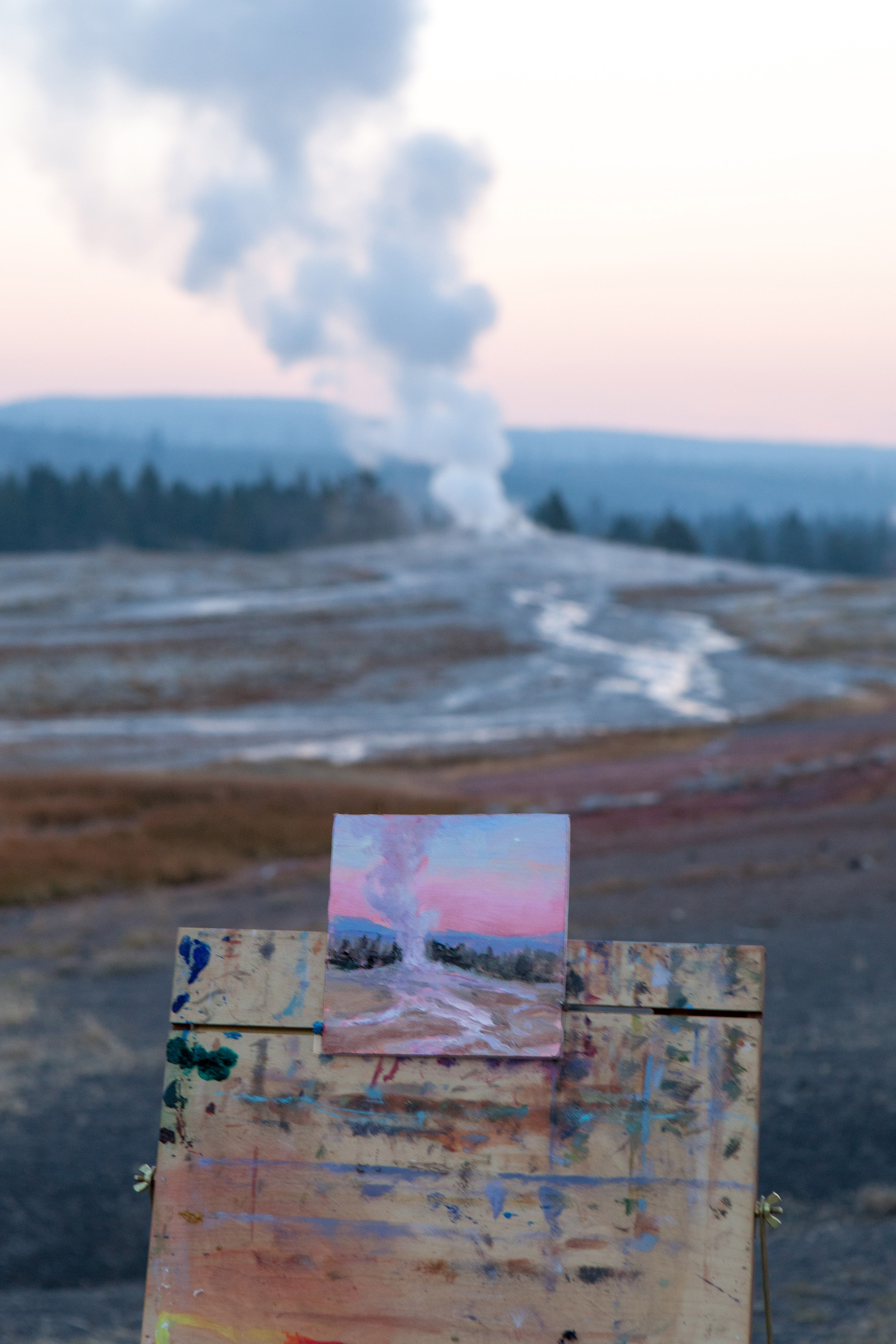 Painting of Old Faithful