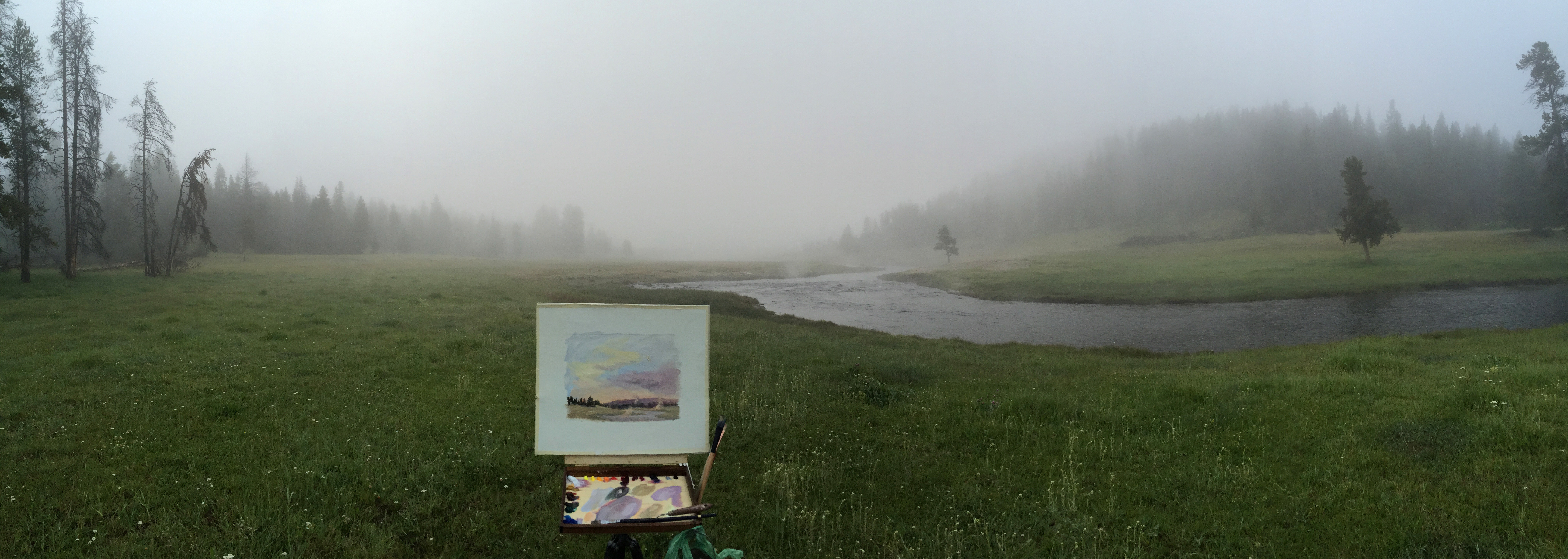 Painting along the Nez Perce