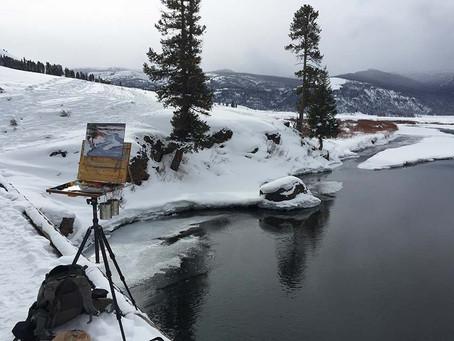 A Snowy Plein Air Painting Excursion