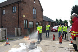 Fire extinguisher training Telford Shrewsbury Shropshire