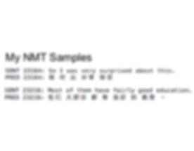 NMT Samples