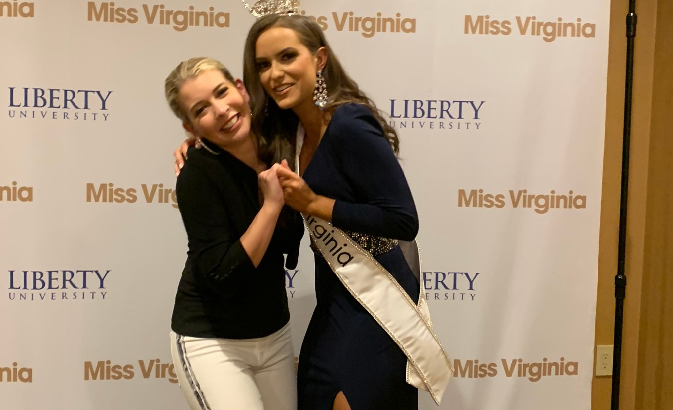 With the future Miss America 2020 after her crowning as Miss Virginia America