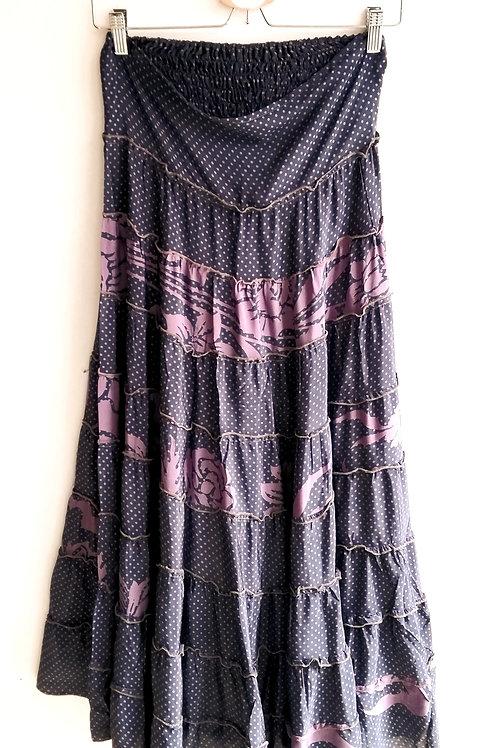 Boho Silk Skirt