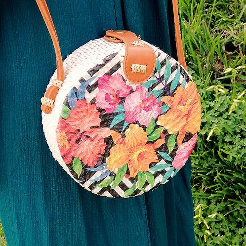 Painted Rattan Bag
