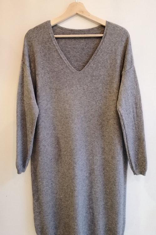 Grey Knit Dress 2020