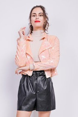 Sequinned Perfecto Jacket