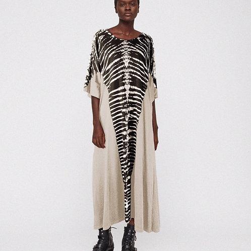 Beige Zebra Wide Dress