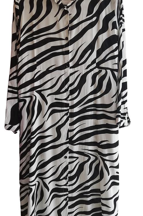 Zebra Shirt Dress