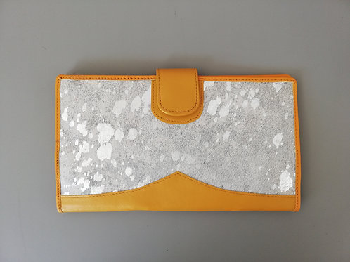Yellow Silver Spots Money Wallet