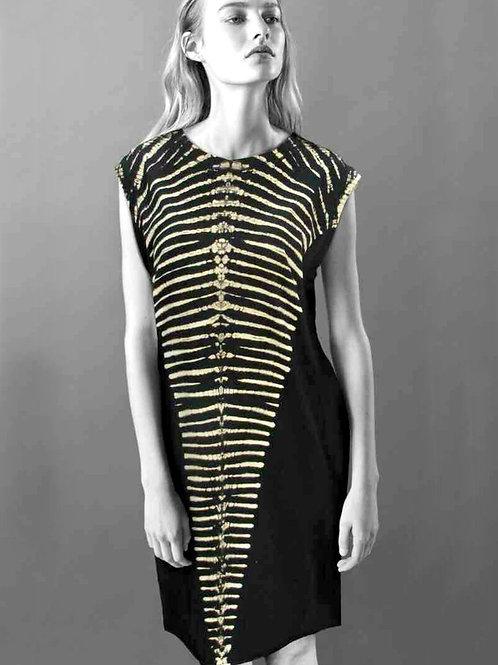 Short Black Zebra Dress