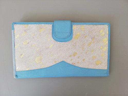 Blue Golden Spots Money Wallet