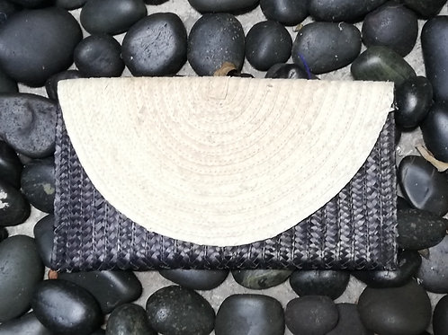 Half Moon Black Clutch