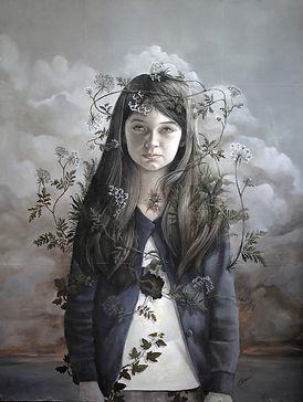 low brow art, oil painting portrait surréalism peinture à l'huile portrait