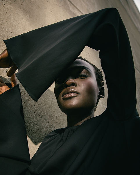 A fall fashion editorial featuring flowing dresses, unique shirting and playful layers; starring Aliet Sarah and featuring designers, Ji Oh and Maryam Nassir Zadeh. Photography by Sharon Radisch