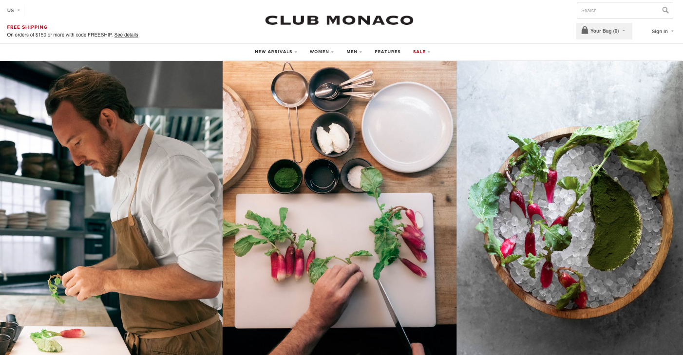 Club Monaco, May 2015
