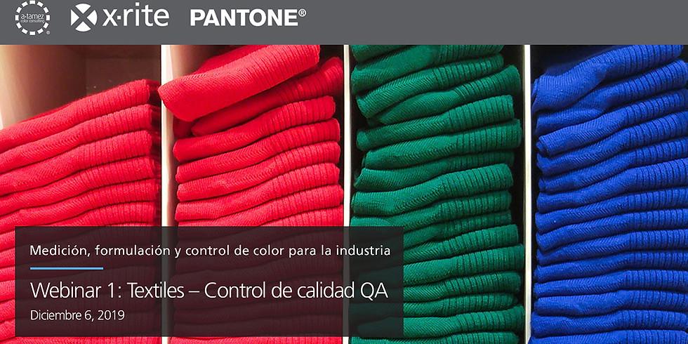 Webinar 1: Textiles – Control de calidad QA