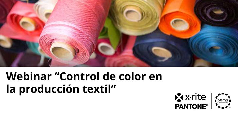 """WEBINAR """"Control de color en la producción textil"""""""
