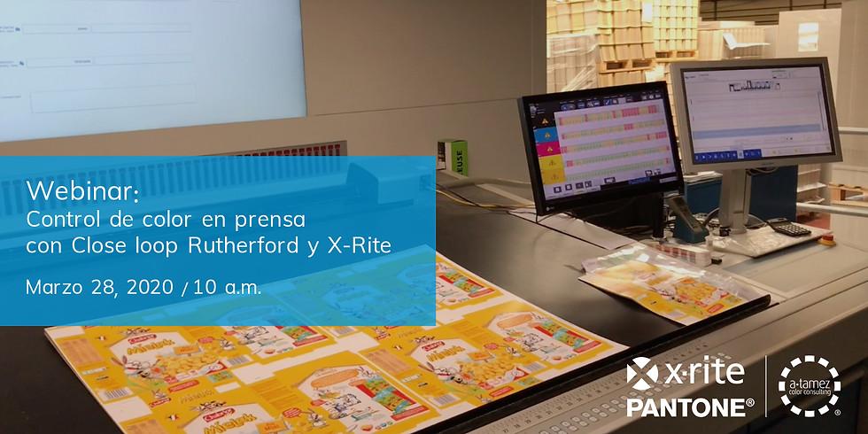 Webinar: Control de color en prensa con Close loop Rutherford y X-Rite.
