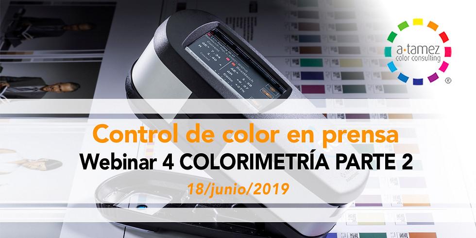 Webinar 4: Colorimetría 2