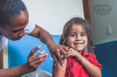 Vaccination event in Caracas, Venezuela.