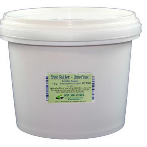 Shea Butter - Certified Organic - Unrefined 1 kg
