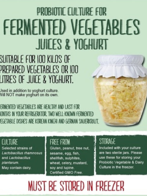 Probiotic Vegetable & Dairy Culture - 100 litres/kgs