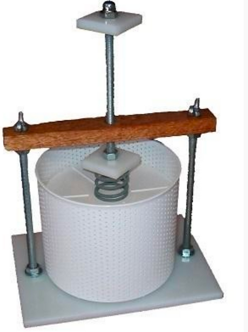 Stainless Steel Cheese Press and 22 kg Spring with 165 mm Cheese Basket and Foll