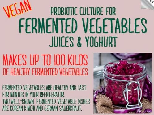 Vegan Fermented Vegetable Culture - 100 litres / kgs