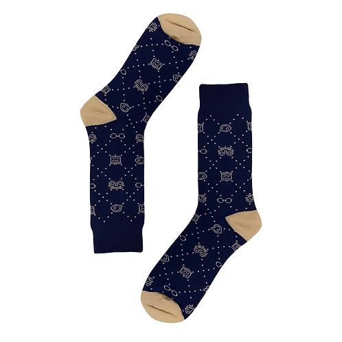 2020 QOSS Socks Navy (Members Price)