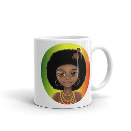 Mug femme africaine rasta