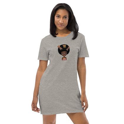 """Robe tee-shirt Coton bio """"Trois peignes"""""""
