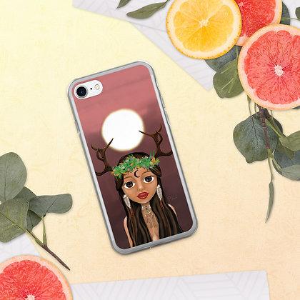 """Coque pour iPhone """"Fille de la lune"""""""