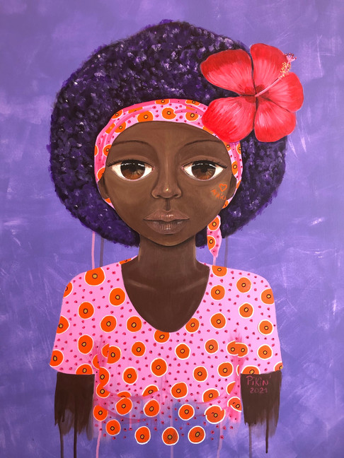 La fille et l'hibiscus