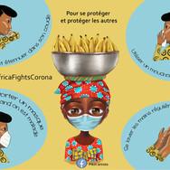 Campagne de sensibilisation en Côte d'Ivoire. Coronavirus