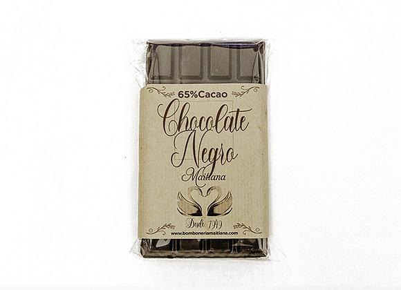 Tableta de chocolate negro 65% cacao 100gr.