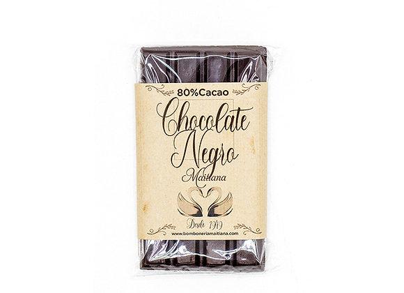 Tableta de chocolate negro 80% cacao 100gr.