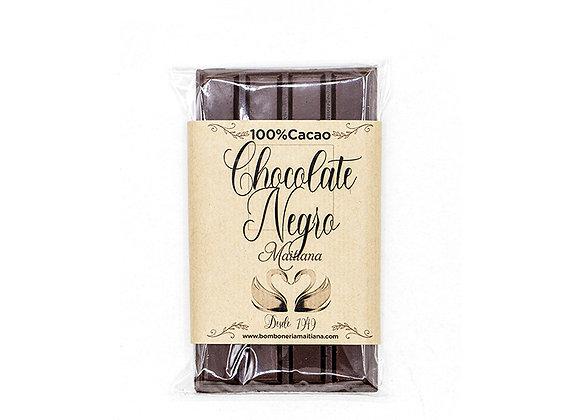 Tableta de chocolate negro 100% cacao 100gr.