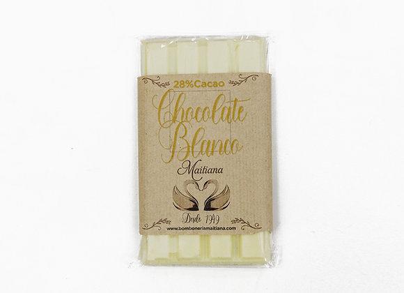 Tableta de chocolate blanco 100gr.