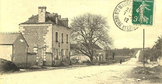 photo ancienne - écoe communale et la ro