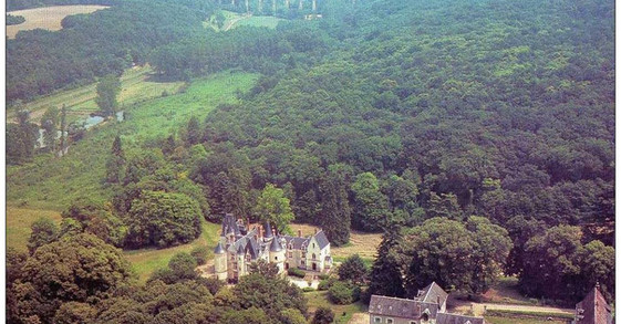 photo ancienne - chateau de brou vu du c