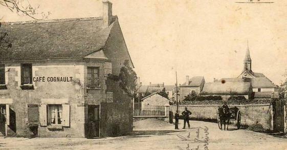 photo ancienne - route menant vers l'égl