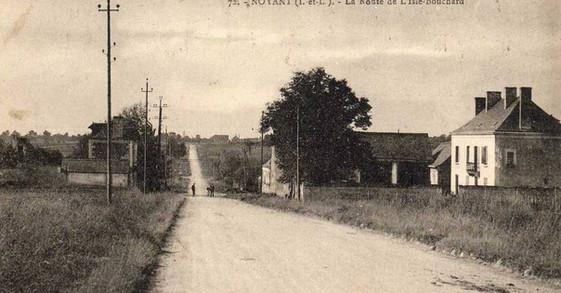 photo ancienne - route de l'isle bouchar