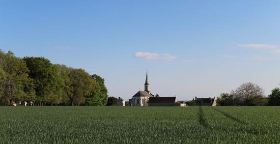 Vue église - Rue du stade
