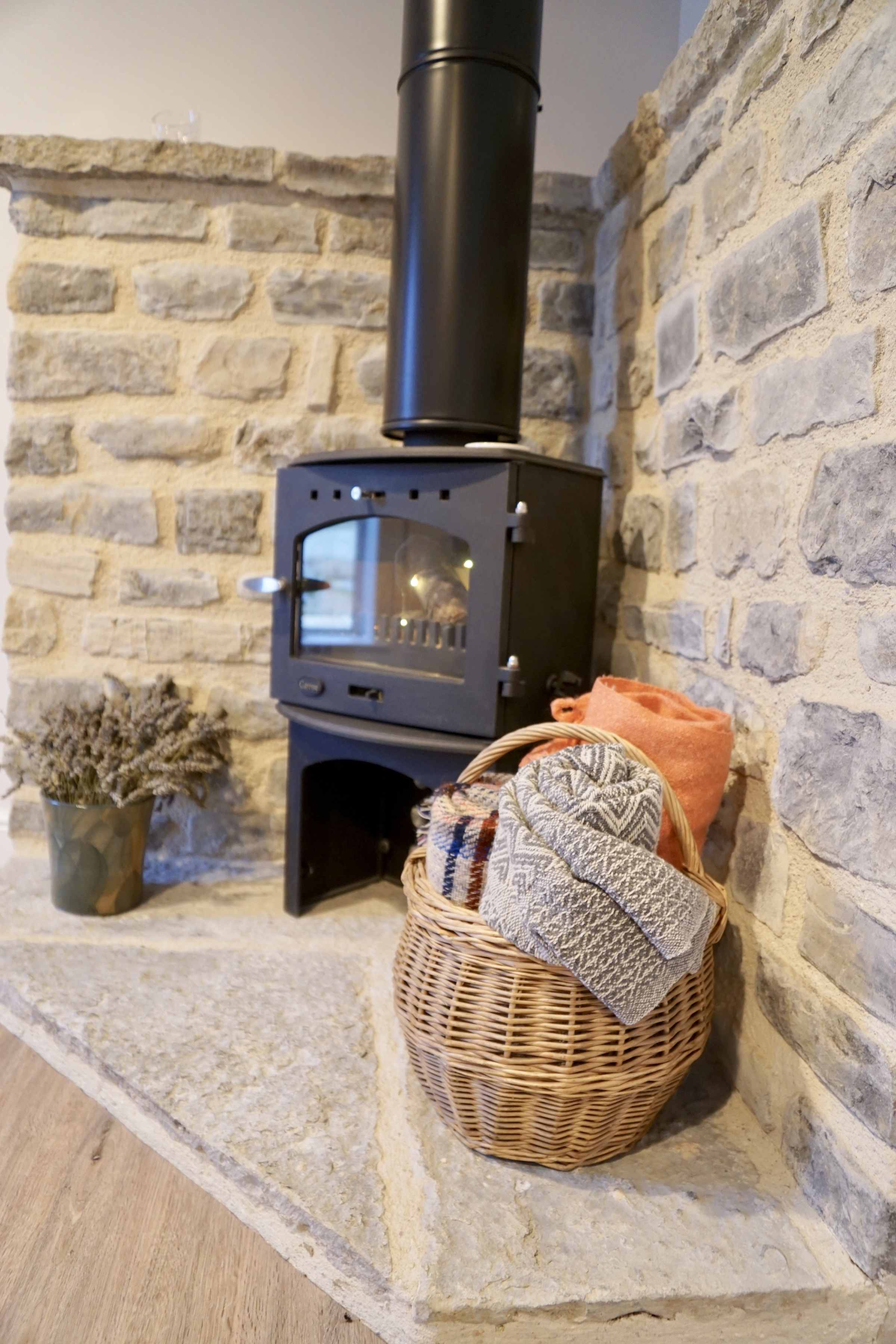 Old stable log burner