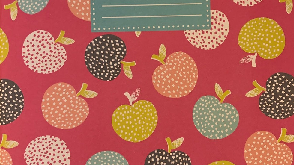 Apples soft cover notebook