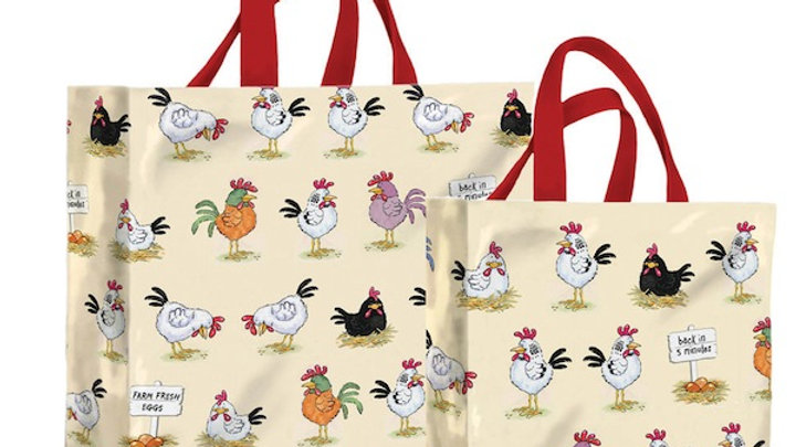 Cheeky Chickens PVC Shopping Bag