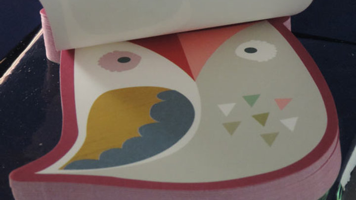 Die-cut Little Owl Notepad
