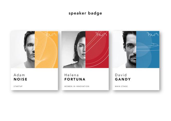 touch speaker badge