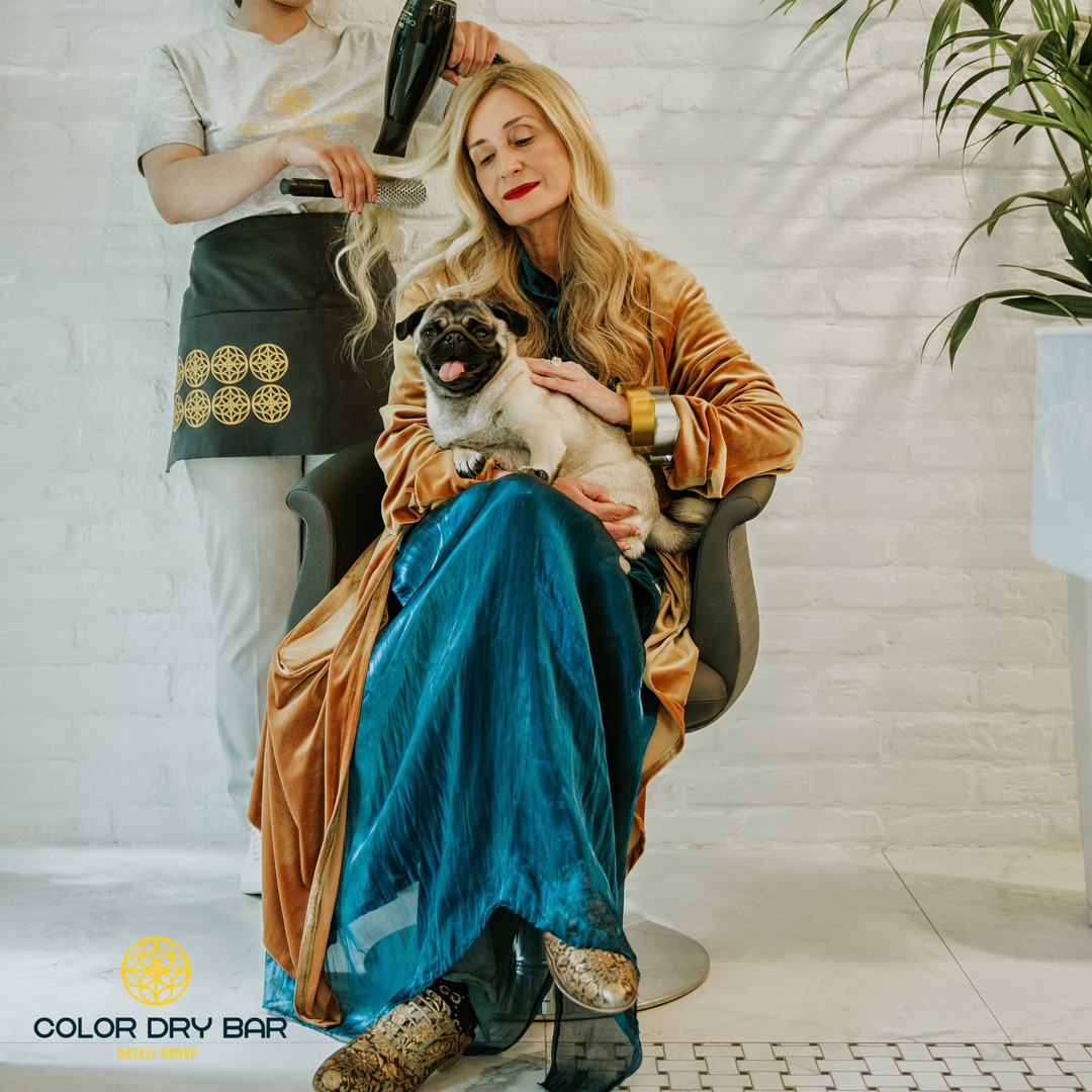 natali group: color dry bar - lady with a dog
